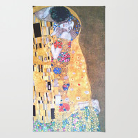 Love & The Kiss - Gustav Klimt Area & Throw Rug by BeautifulHomes | Society6
