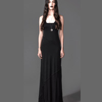 Choose to dress up or down in the Everyday Is Like Sunday Maxi Dress by House of Widow. This simple and elegant maxi dress features soft stretch knit, deep V-neckline with textured rib Detailing paneling contrast, sleeveless with textured rib Detailing pan