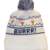 BURRR! Knit Hat- White