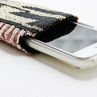 BSG Beaded Phone Case in Black - Urban Outfitters