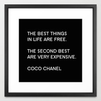 Typography Print - Canvas Art - Coco Chanel - Quotes - Typography - Home Decor - Wall Decor - Fashion Wall Art - Fashion Quotes