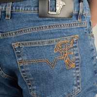 Versace Collection Medusa Head Denim Jeans - Light