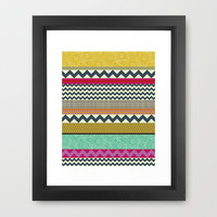 New York Beauty stripe Framed Art Print by Sharon Turner | Society6