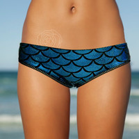 Mermaid low cut lace trim bikini bottoms