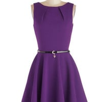 Luck Be a Lady Dress in Violet