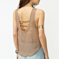Strapped Crop Tank - Mocha in What&#x27;s New at Nasty Gal
