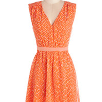 Herb Garden Party Dress in Orange | Mod Retro Vintage Dresses | ModCloth.com