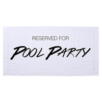 The Pool Party Towel