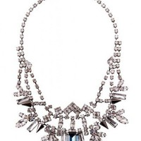 Sapphire Diamante Statement Necklace