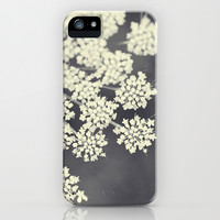 Black and White Queen Annes Lace iPhone & iPod Case by Erin Johnson