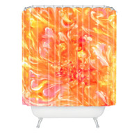 Rosie Brown Falling Petals Shower Curtain