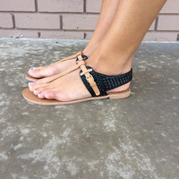 Oceanside Black Sandals