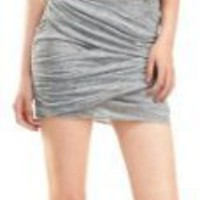 HEATHERED JERSEY SKIRT