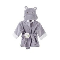 Baby Aspen &amp;quot;Hug-alot-amus&amp;quot; Hooded Hippo Robe, Lavender, 0-6 Months