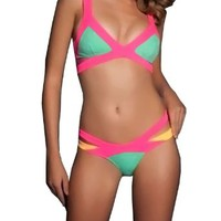 Kranda Women's Summer Beach Show Splice Swimsuit Bikini