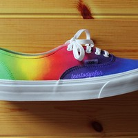 Tees To Dye For — Rainbow Custom Vans