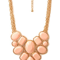 Forget-Me-Not Statement Necklace