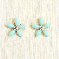 Mint Blossom Earrings