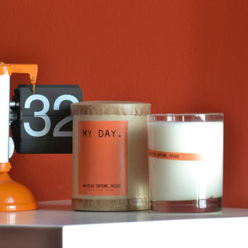 I liked this design on #Fab. My Day Caffeine Please Candle