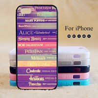 Disney Books, iPhone Case iPhone 5 case iPhone 5C Case iPhone 5S case iPhone 4 Case Phone Cases