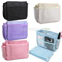 #gib Compact Lady Storage Bag Organizer Insert Nylon Multi-function Pouch