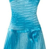 Amy Byer Girls 7-16 Glitter Ombre Sleeveless Pleat Bottom Dress