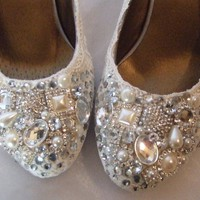 Twinkle Toes Lower heelvintage lace and by tlccreationsuk on Etsy