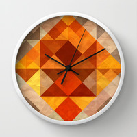Burning Wall Clock by SensualPatterns
