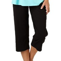 Bay Studio Solid Drawsting Pajama Capris
