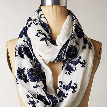 Giverny Embroidered Infinity Scarf