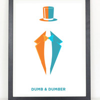 Dumb and Dumber minimalist poster