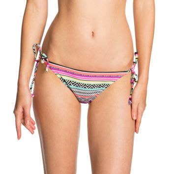 Live Love Dream Womens LLD Geo Stripe Side-Tie Bikini Bottom - Blue/Green/Pink,