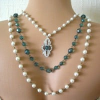 Backdrop Bridal Necklace From Crystalpearl On Artfire