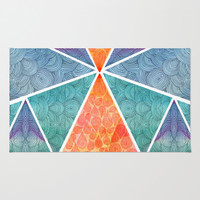 Pyramids of Giza Area & Throw Rug by Pom Graphic Design | Society6