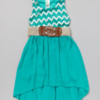 Jade Zigzag Belted Dress - Girls | something special every day