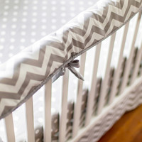 New Arrivals Zig Zag Crib Rail Cover