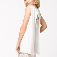 A LINE OPEN BACK DRESS