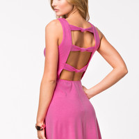 KNOT BACK JERSEY DRESS