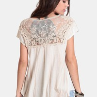Take A Chance Lace Detail Top