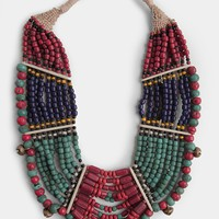 Jinja Beaded Statement Necklace By Raga