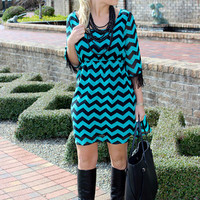 Chevron Fringe Dress