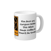 This Witch Needs Coffee JUMBO pagan wiccan mug cup