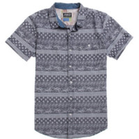 Modern Amusement Out At Sea Short Sleeve Woven Shirt - Mens Shirt - Blue - Small