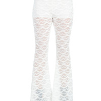 Scalloped Lace Pants