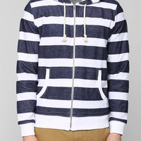 CPO Stripe Zip-Up Hoodie Sweatshirt - Urban Outfitters