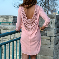 Surri Sunbeam Rose Embroidered Back Dress