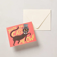 Cat's Meow Card by Rifle Paper Co. Red One Size Gifts