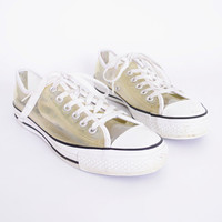 Clear Converse Chuck Taylor All Star Low Top Tennis Shoe Transparent Plastic 90s Shoe 90s Grunge Shoe 90s Club Kid Shoe Mens 6 Womens 8
