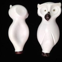 White Owl Hand Blown Glass Pipe
