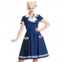 Hell Bunny Seafarer 50's Dress | Nautical Sailor Dress